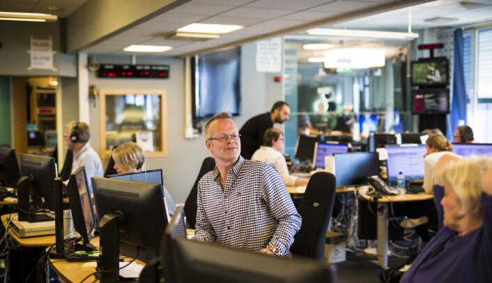 Programleder Birger Kolsrud Jåsund i Nyhetsmorgen. Foto: Kristine Lindebø