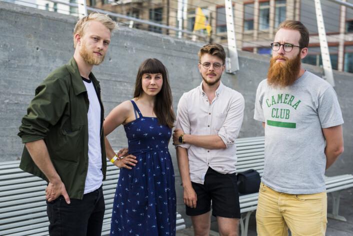 Fartein Rudjord, Siv Dolmen, Kyrre Lien og Krister Sørbø har alle gitt klar beskjed til fotosjefer om at de krever rettferdig betaling. Foto: Kristine Lindebø