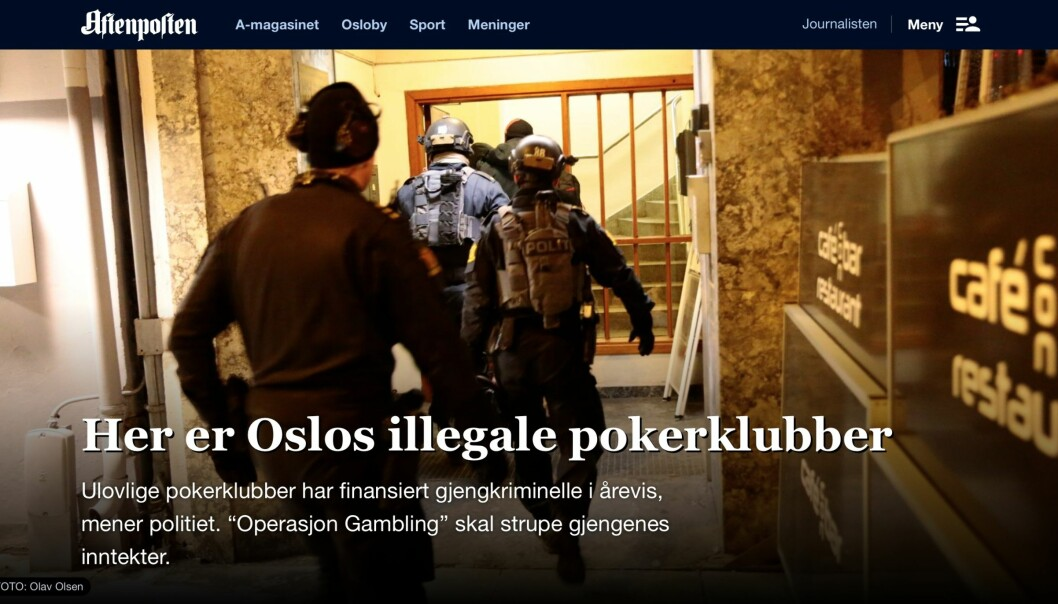 Faksimile Aftenposten.no 3. mars