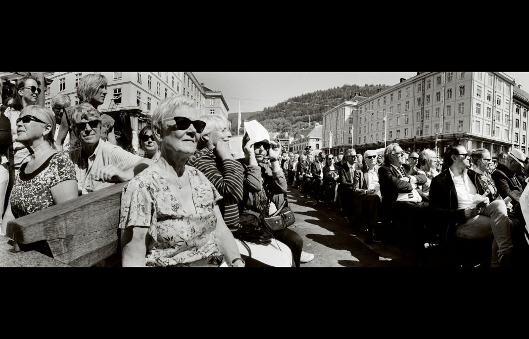 Åpningen av Festspillene på Torgallmenningen i Bergen. Foto: Fred Ivar Utsi Klemetsen