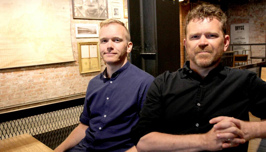 Markus Tobiassen (til venstre) og Kjetil Sæter er journalistene bak Tidal-saken. Arkivfoto: Glenn Slydal Johansen