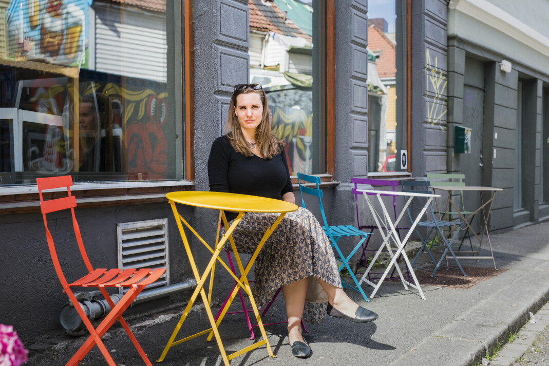 NRKs Midtøsten-korrespondent Kristin Solberg er på Fortellingens kraft på Litteraturhuset i Bergen. Foto: Kristine Lindebø