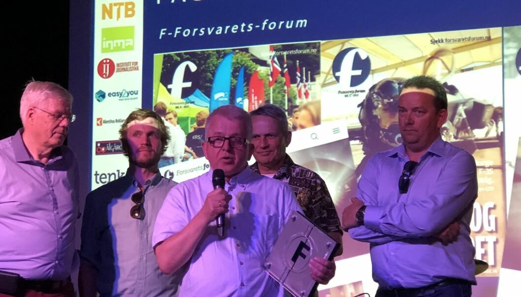 Redaktør Tor-Eigil Stordahl tok imot prisen som Årets fagblad under Fagresseprisene 2018.