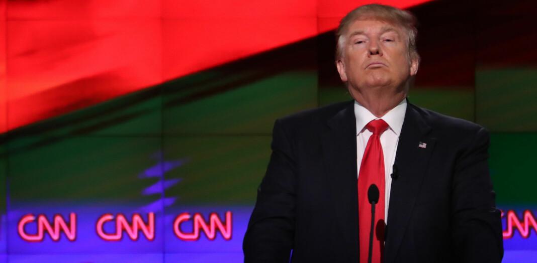 President Donald Trump er en sterk motstander av fusjonen mellom CNN-eier Time Warner og AT&T. Foto: Reuters / NTB scanpix