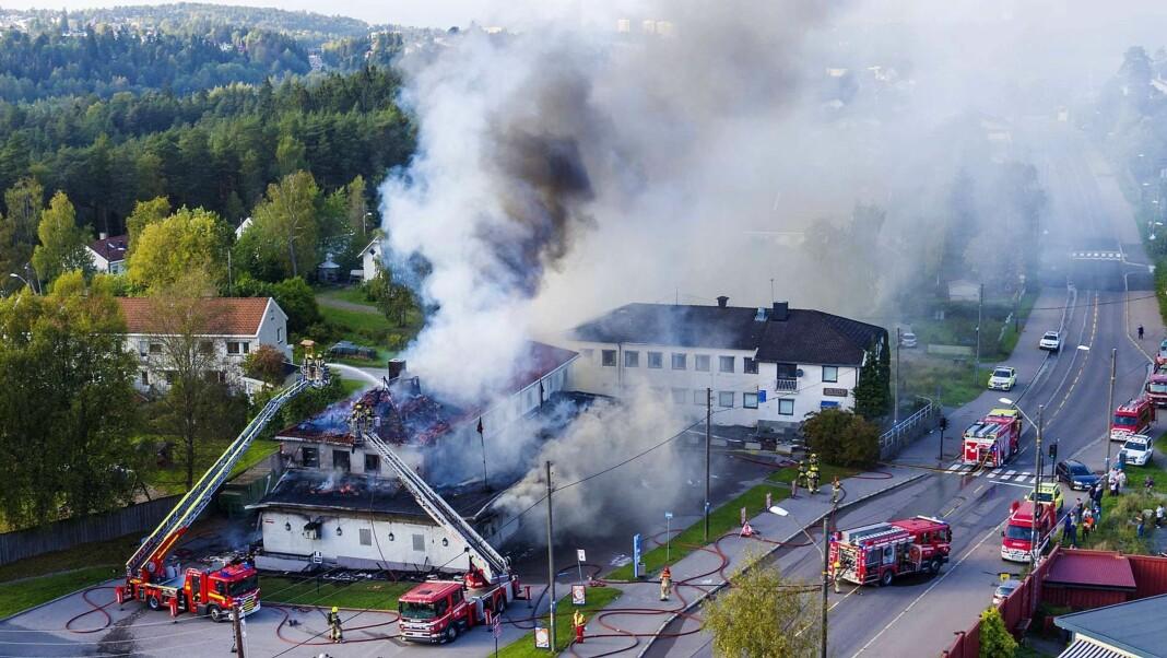 Bilder fra en brann på Abildsø i september 2016. Foto: Hans O. Torgersen/Aftenposten