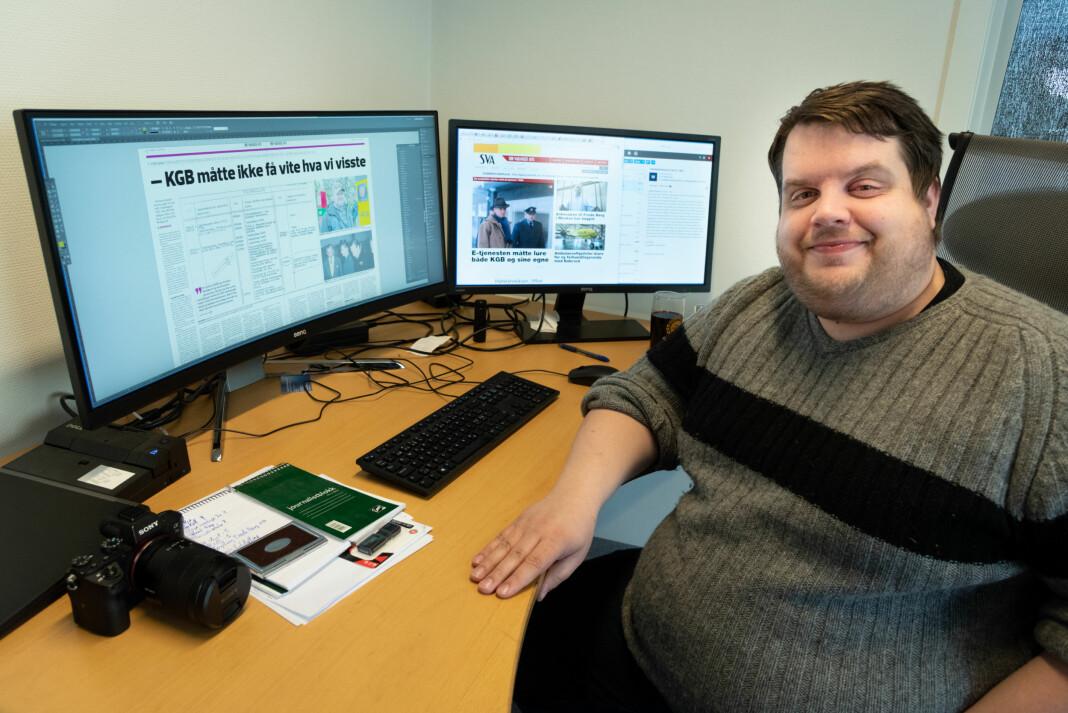 Redaktør og daglig leder Ole-Tommy Pedersen i Sør-Varanger Avis Arkivfoto: Noria Hovden (Innsendt)