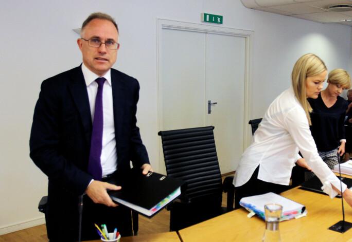 Spekters advokat Tarjei Thorkildsen fra advokatfirmaet BAHR. Foto: Glenn Slydal Johansen