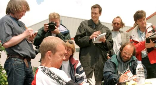 TILBAKEBLIKKET: Henning Berg ville ikke svare på spørsmål om pubtur under VM '98