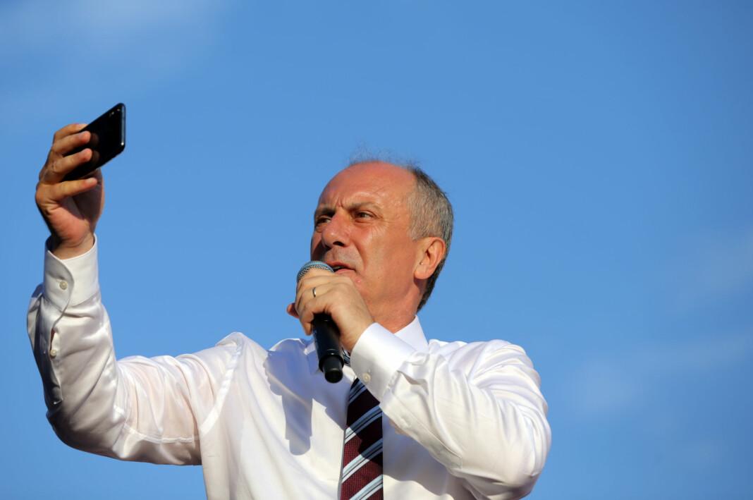 Opposisjonskandidaten Muharrem Ince (bildet) og hans parti CHP får langt mindre TV-dekning enn president Erdogan og hans parti AKP, ifølge en opposisjonstilhenger hos Tyrkias medievaktbikkje RTÜK. Foto: Reuters / NTB scanpix