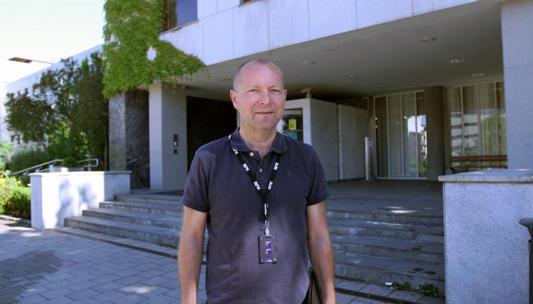 Lokaliseringsdirektør Jon Espen Lohne i NRK. Foto: Glenn Slydal Johansen