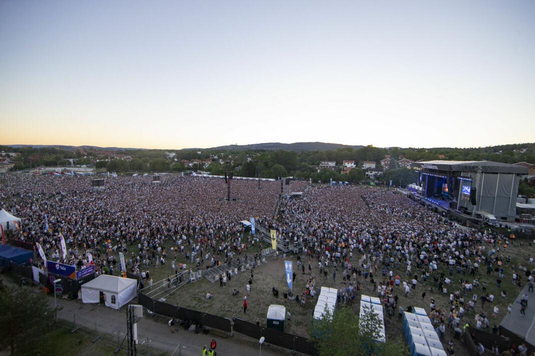 Eminem tillot ikke pressefotografer å komme inn på området der han holdt konsert i Oslo forrige uke. Foto: Foto: Fredrik Hagen / NTB scanpix