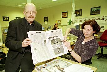 TILBAKEBLIKKET: Nordlandsposten illustrerer kutt i pressestøtten med saks