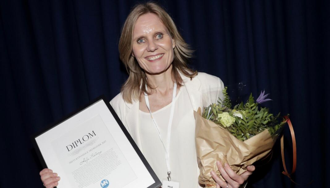 Helje Solberg ble i fjor kåret til årets kvinnelige medieleder. Foto: Lise Åserud / NTB scanpix