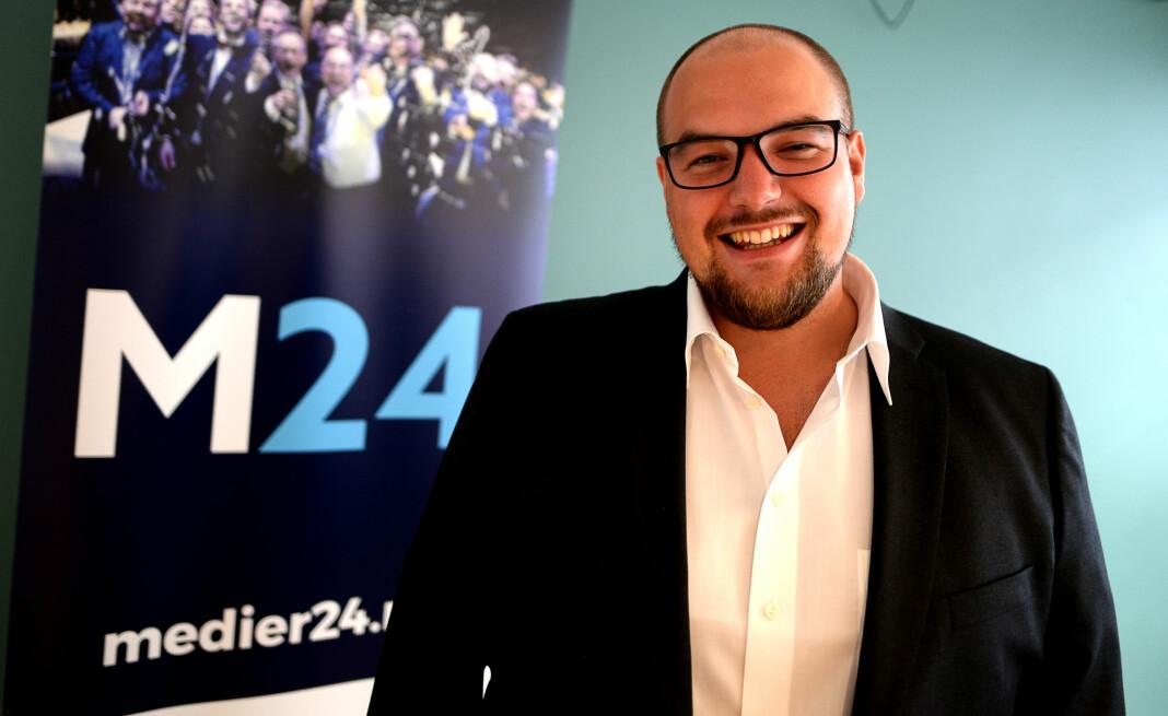Erik Waatland i Medier24. Foto: Eira Lie Jor/Medier24