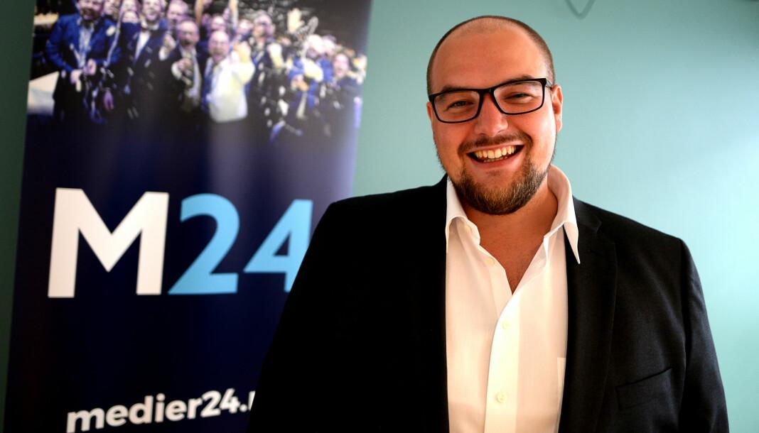 Erik Waatland, ansvarlig redaktør i Medier24, blir kritisert på lederplass i Aftenposten. Foto: Eira Lie Jor/Medier24