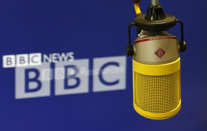 Illustrasjonsbilde fra BBCs radiostudio. Foto: Suzanne Plunkett / REUTERS / NTB scanpix