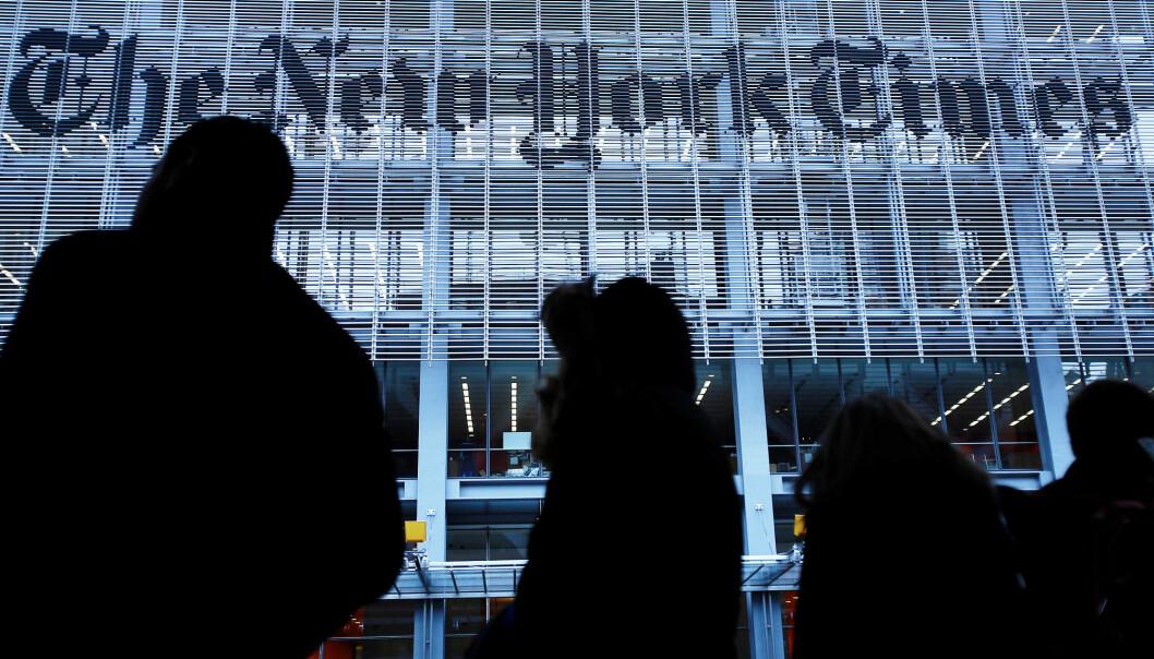2,9 millioner har digitalt abonnement på New York Times. Foto: Reuters / NTB scanpix