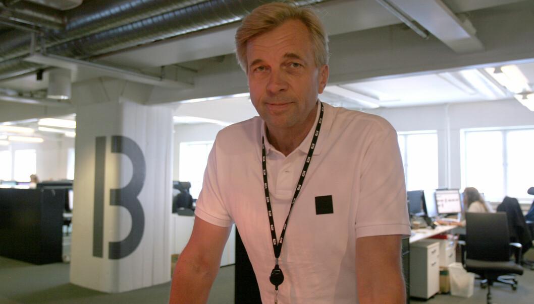 Geir Terje Ruud ville aldri jobbet i NTB om det ikke var for fotballroboten. Foto: Glenn Slydal Johansen