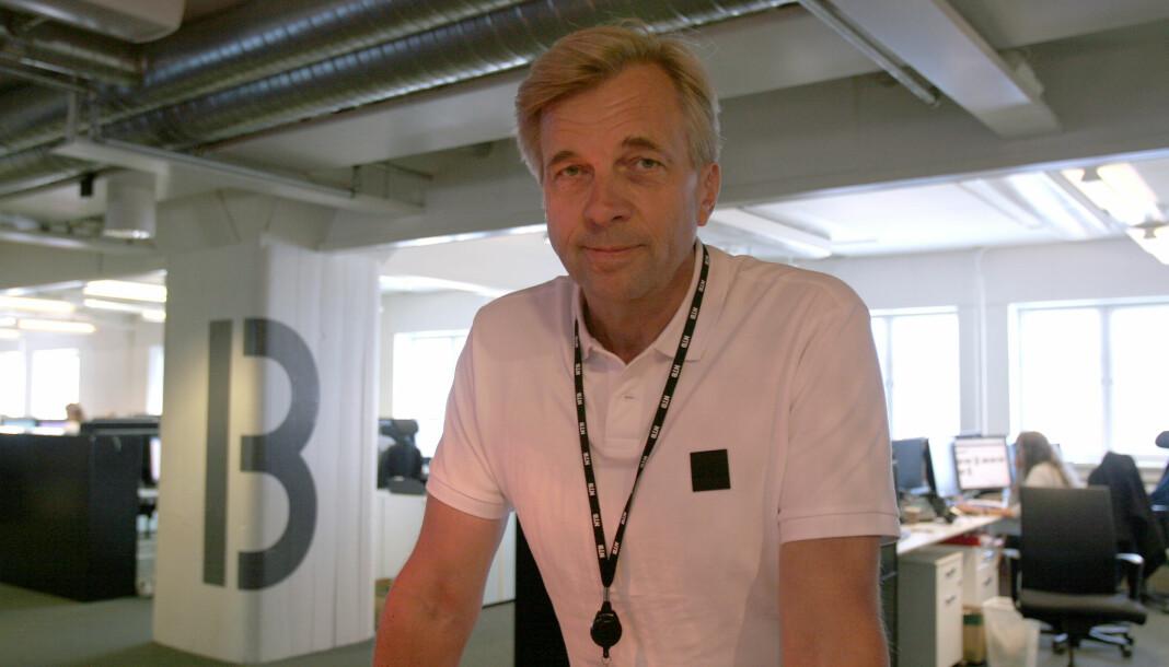 NTBs teknologidirektør Geir Terje Ruud håper på penger fra innovasjonspotten til å jobbe videre med ideen om en sømløs innloggingsløsning i mediebransjen. Foto: Glenn Slydal Johansen