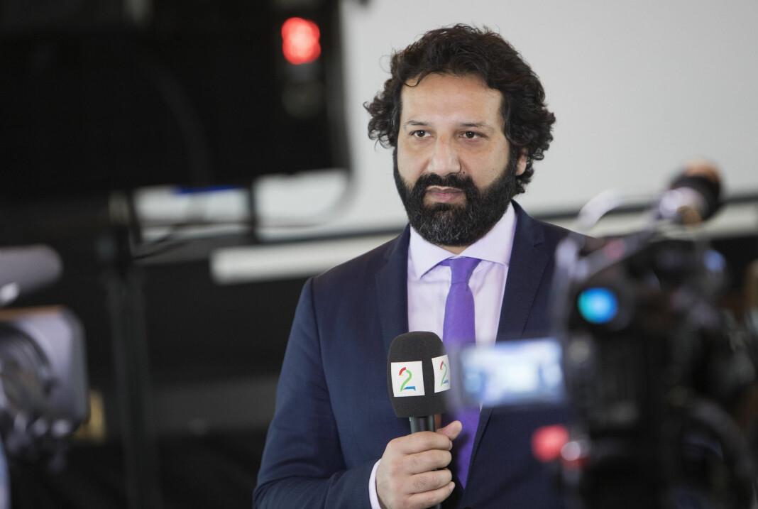Kadafi Zaman, journalist i TV 2, er pågrepet i Pakistan. Foto: Ole Berg-Rusten / NTB scanpix