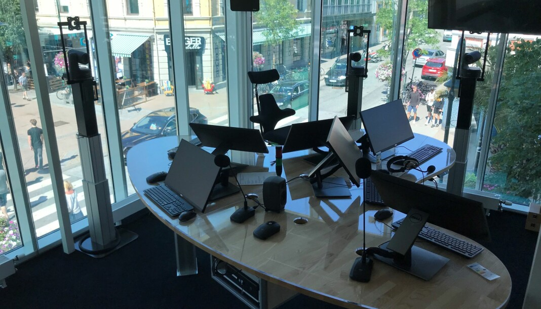 Slik ser NRK Sørlandets nye radiostudio ut. Foto: Morten Rød