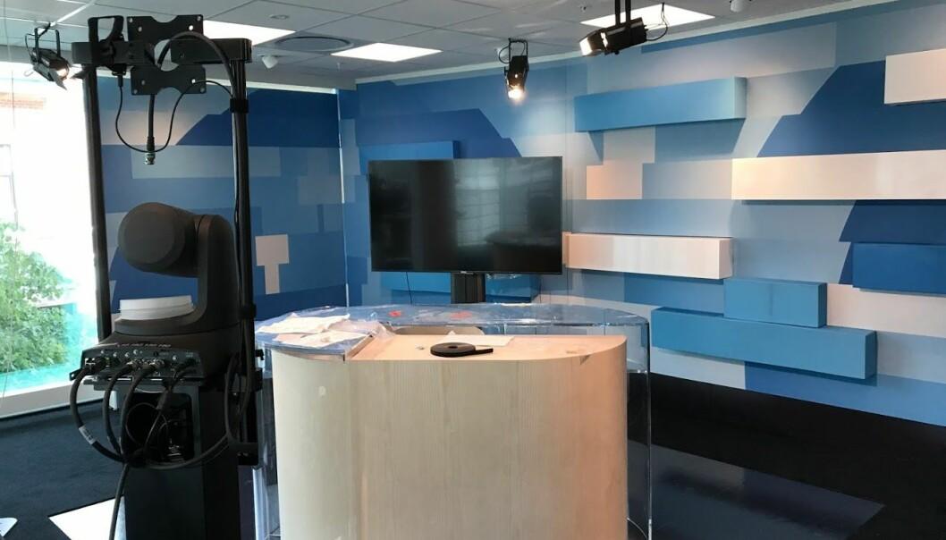 TV-delen av det nye studioet. Foto: NRK