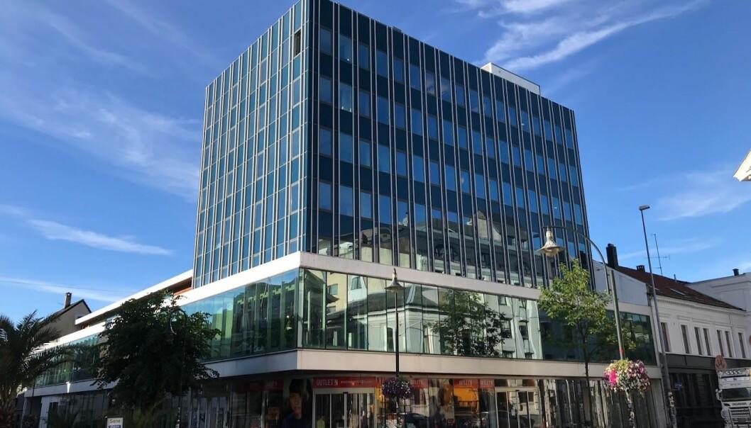 I denne bygningen blir NRK lokalisert. Foto: NRK