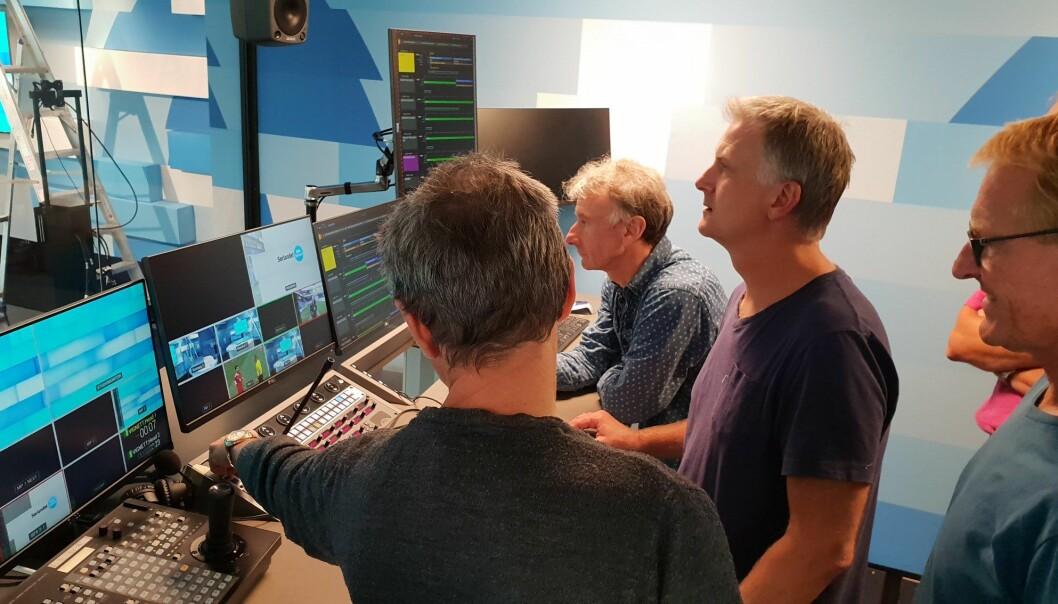 Det nye systemet ble installert rett før sommeren slik at ansatte ved NRK Sørlandet kan bli litt kjent med det før det tas i bruk i september Foto: NRK