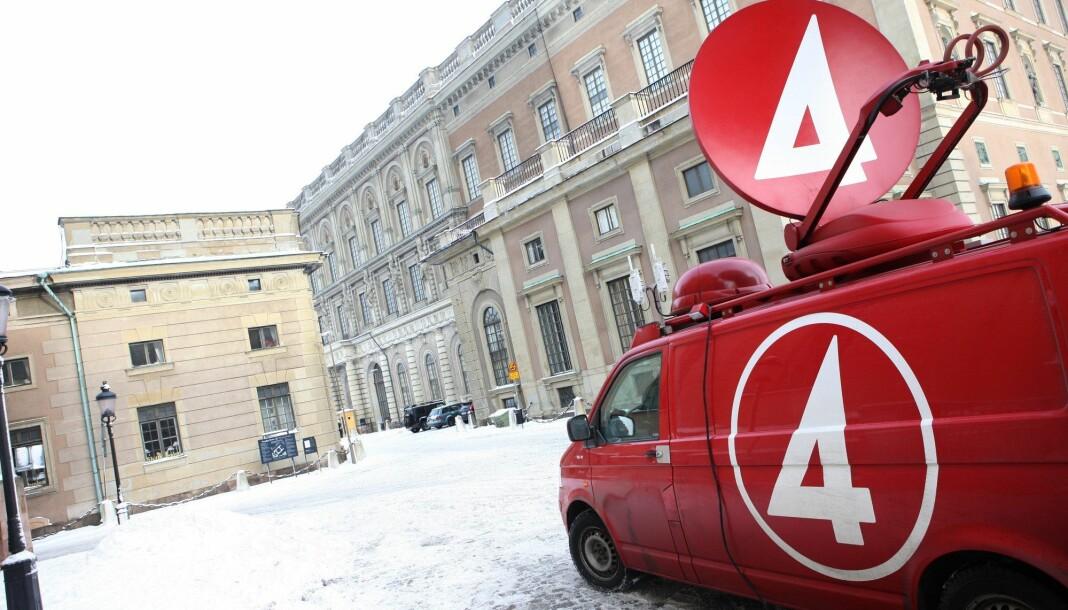 Den svenske staten blir indirekte eier av 37,4 prosent av kommersielle TV4. Foto: Fredrik Persson / SCANPIX