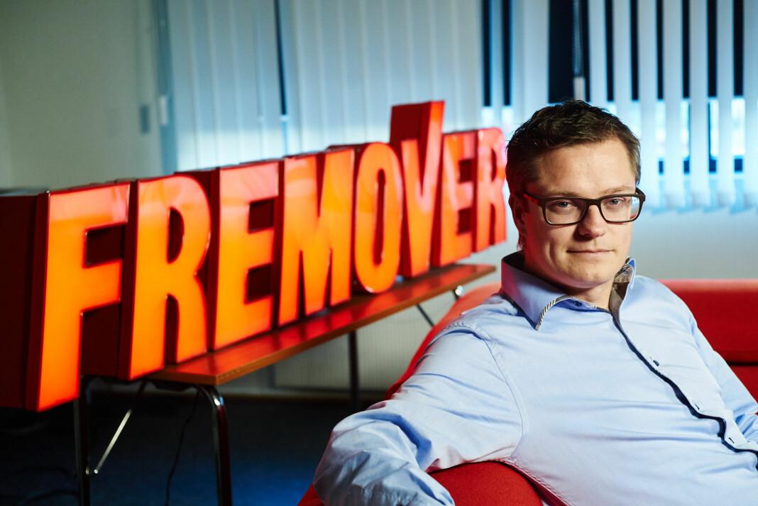 Sjefredaktør og administrerende direktør Christian Senning Andersen i Fremover er fornøyd med 2017-tallene. Foto: Amedia