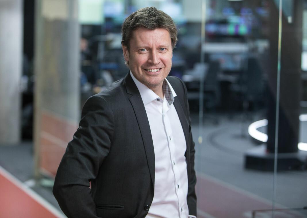 Kanaldirektør Trygve Rønningen i TV 2 for fornøyd med sommeren. Foto: Eivind Senneset / TV 2.