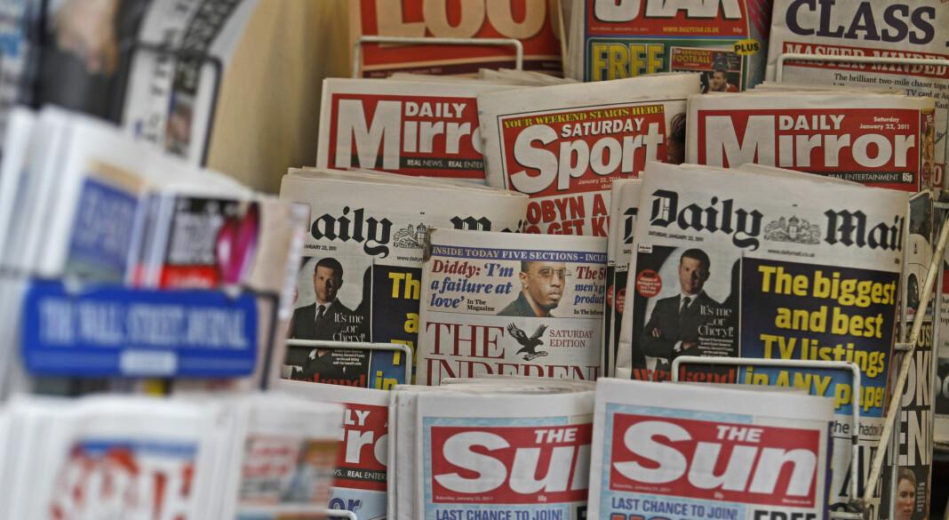 Britiske annonsører vender i år tilbake til papiravisene. Foto: Reuters / NTB scanpix