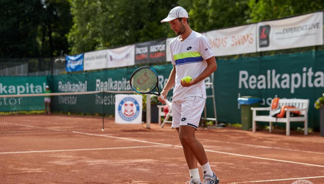 Victor Durasovic er regnet som Norges nest beste tennisspiller, etter Casper Ruud. Foto: Norges Tennisforbund