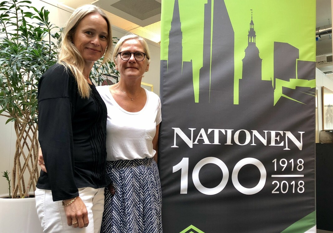 Sjefredaktør Irene Halvorsen og konsernsjef Lise Vedde-Fjærestad er fornøyde med fjoråret, men er mest opptatt av å se fremover. Foto: Roger Aarli-Grøndalen