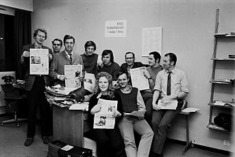 TILBAKEBLIKKET: De ansatte i «Stikka» tok over drifta av avisa i 1971, men fikk bare fem måneder før ny konkurs