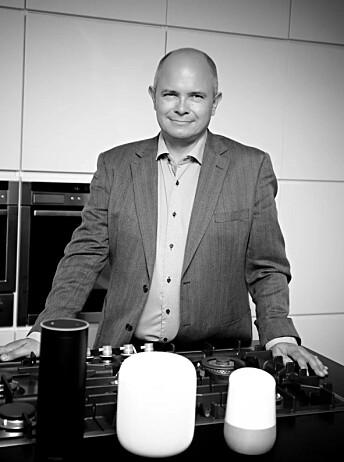 De nye smarthøyttalerne vil typisk bli brukt på kjøkkkenten tror daglig leder i nyopprettede Norsk Radio AS, Ole Jørgen Torvmark.