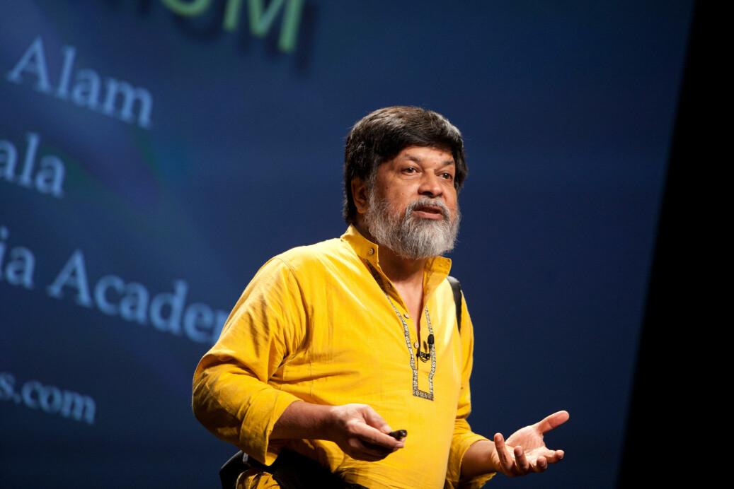 Oslomet-rektor Curt Rice fordømmer fengslingen av Shahidul Alam (bildet), og mener fotojournalisten kun har utøvet sin ytringsfrihet. Foto: PopTech / Wikipedia Commons / CC BY-SA 2.0