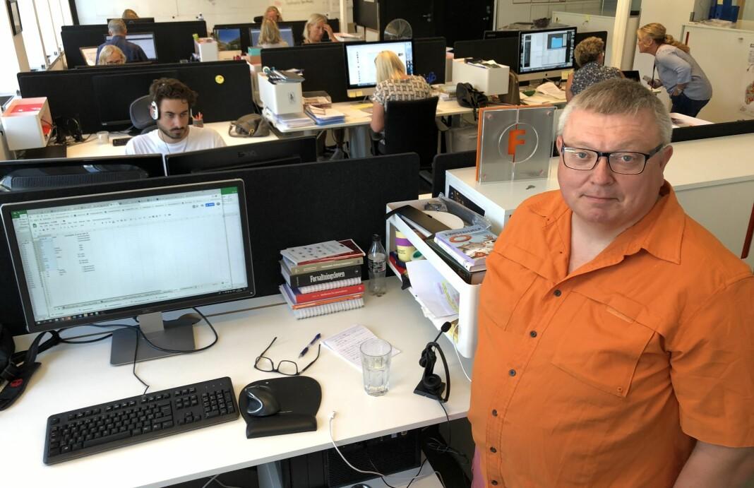 Utviklingsredaktør Ole Petter Pedersen har ledet flere av de prisvinnende prosjektene til Kommunal Rapport. Foto: Roger Aarli-Grøndalen