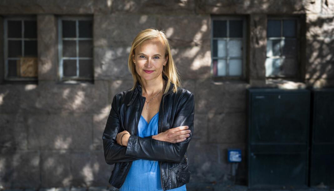 Dagsavisen-journalisten Heidi Taksdal Skjeseth har nylig gitt ut bok om Trumps løgner. Foto: Kristine Lindebø