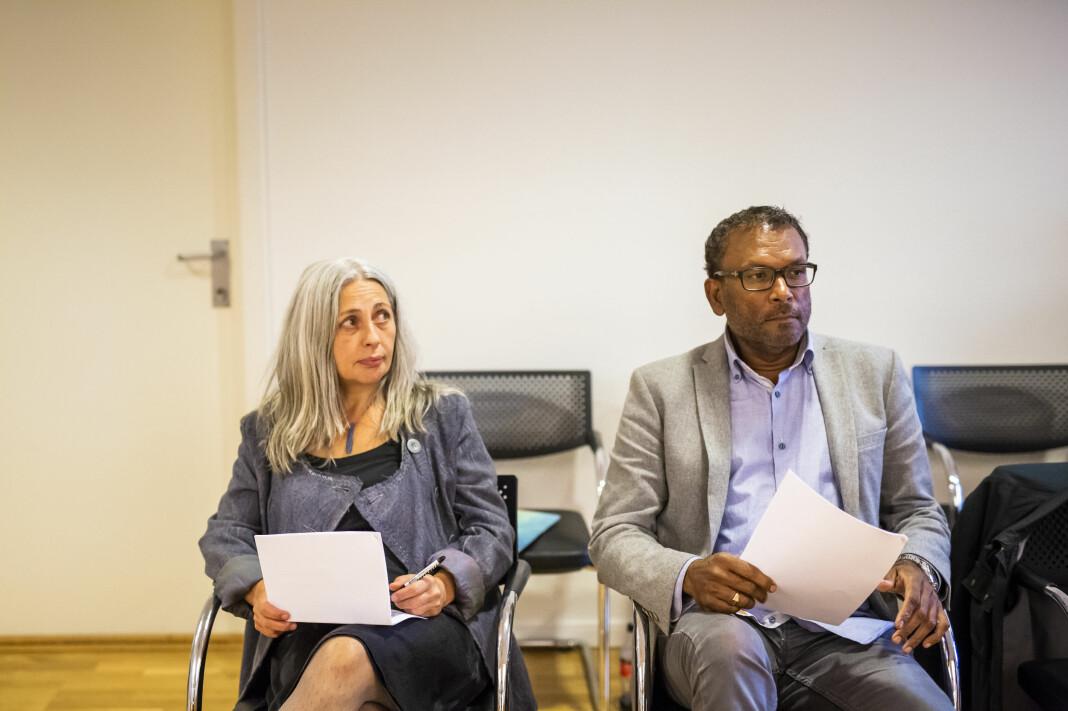Simona Halle og Rajan Chelliah i Arbeidsretten under runde to av domsforhandlingene på sensommeren. Foto: Kristine Lindebø