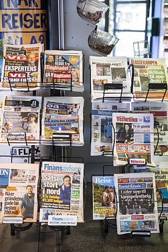 Mange vesterålinger holder gjerne flere aviser, både lokale, regionale og nasjonale. Foto: Kristine Lindebø