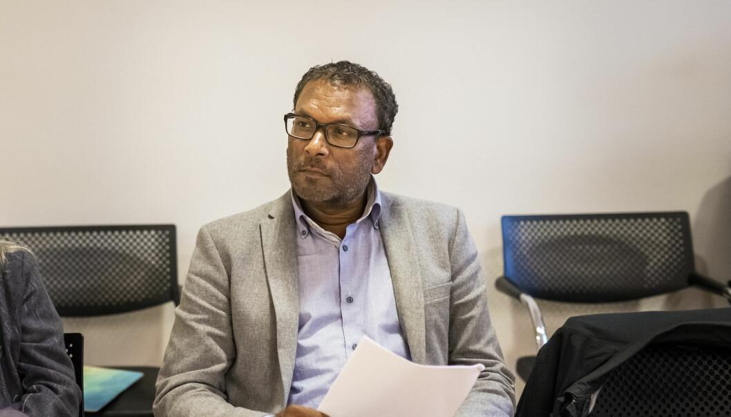 Rajan Chelliah er i Arbeidsretten, der NJ fører saken hans mot NRK/Spekter. Foto: Kristine Lindebø