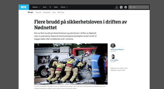 NRK klaget inn til PFU av Broadnet for å ha skrevet at selskapet brøt sikkerhetsloven i nødnettsaken