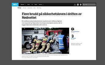 LES OGSÅ: NRK klaget inn til PFU av Broadnet for å ha skrevet at selskapet brøt sikkerhetsloven i nødnettsaken