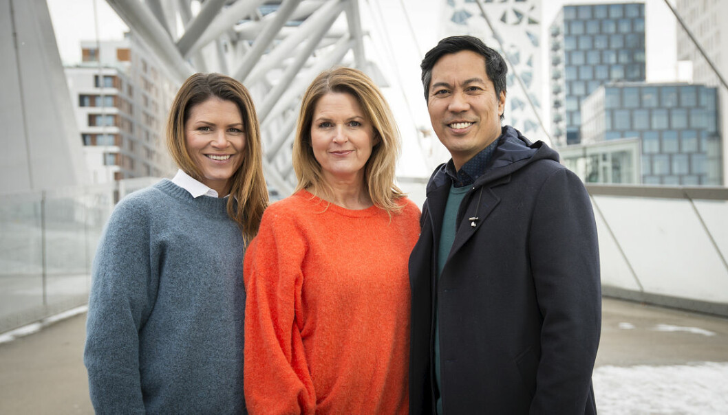 Forbrukerinspektører: Fra venstre Pia Rivelsrud, Marit Evertsen Grimstad og Christian Strand. Foto: Anders Leines / NRK