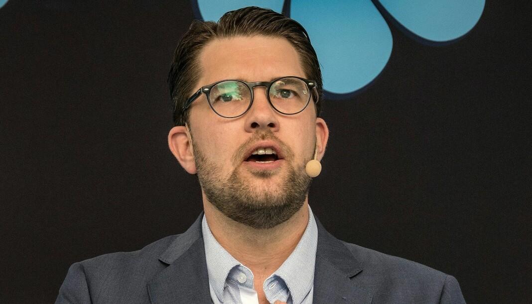 Sverigedemokraternas partileder, Jimmie Åkesson, synes Svensk P3 er en «venstreliberal smørje». Foto: News Øresund / CC BY 3.0