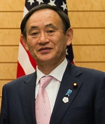 Yoshihide Suga, talsmann for den japanske regjeringen.