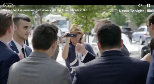 Vice News sendte to paparazzi-fotografer fra Hollywood for å fotfølge Trump-medarbeidere