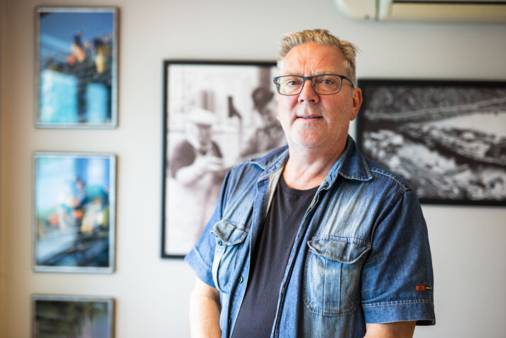 Redaktør Hjalmar Martinussen har tro på papiravisa. Foto: Kristine Lindebø