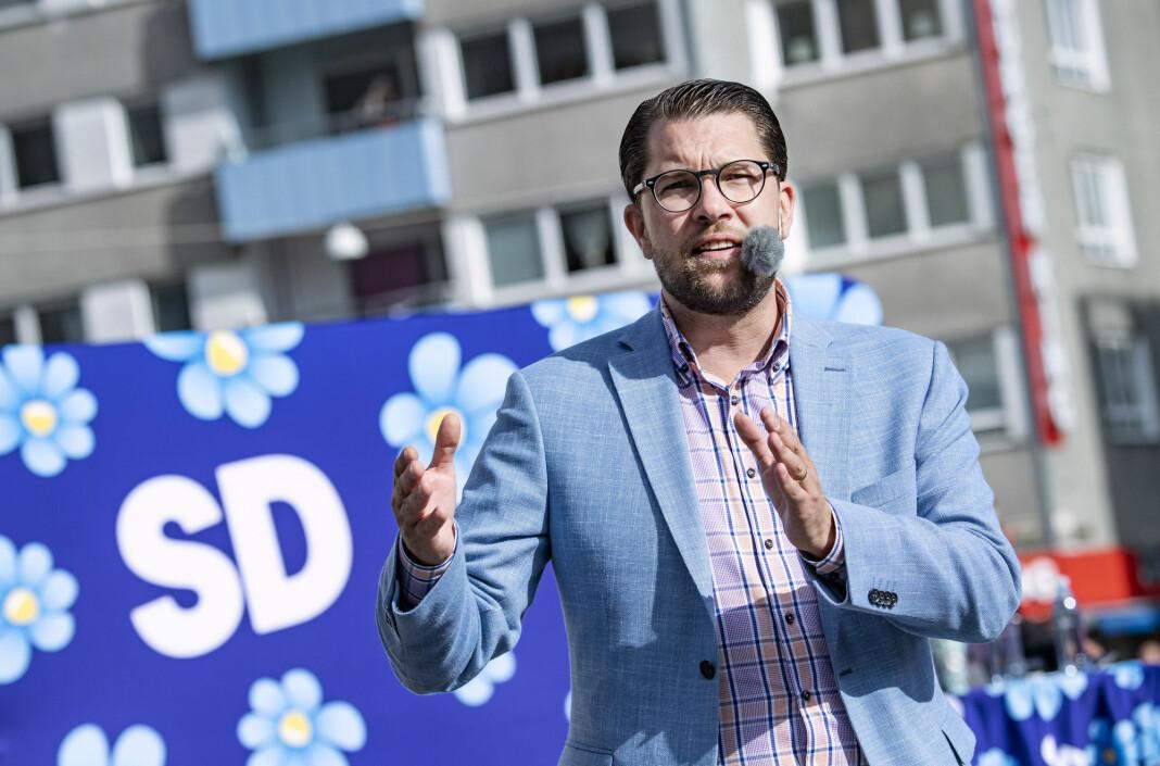 SDs partileder Jimmie Åkesson. Foto: Johan Nilsson / TT / NTB scanpix